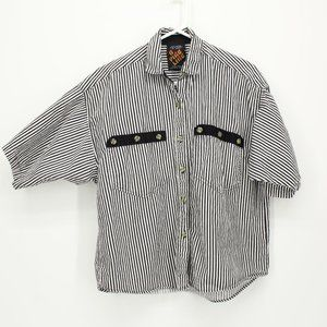 Vintage Striped Button Up Shirt